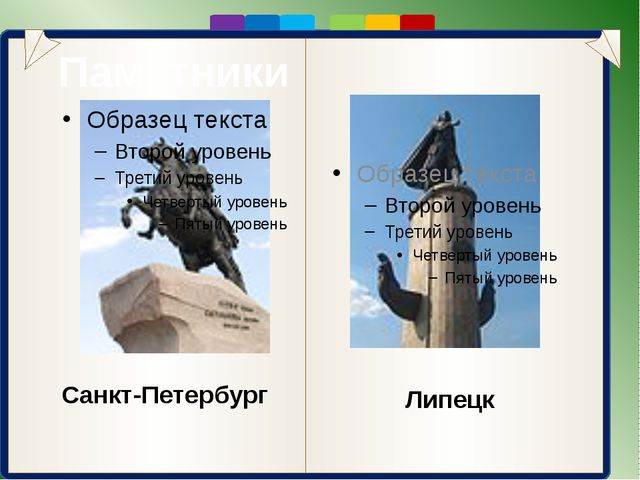 Памятники Санкт-Петербург Липецк