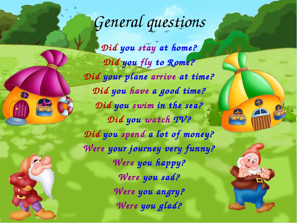 General questions Did you stay at home? Did you fly to Rome? Did your plane a...