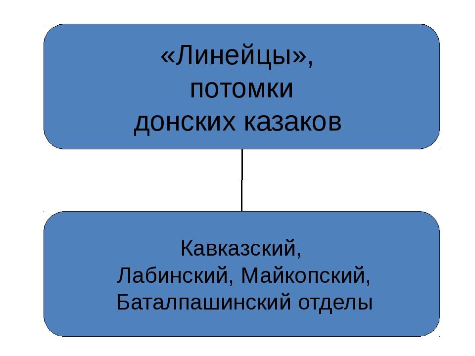 «Линейцы», потомки донских казаков Кавказский, Лабинский, Майкопский, Баталпа...