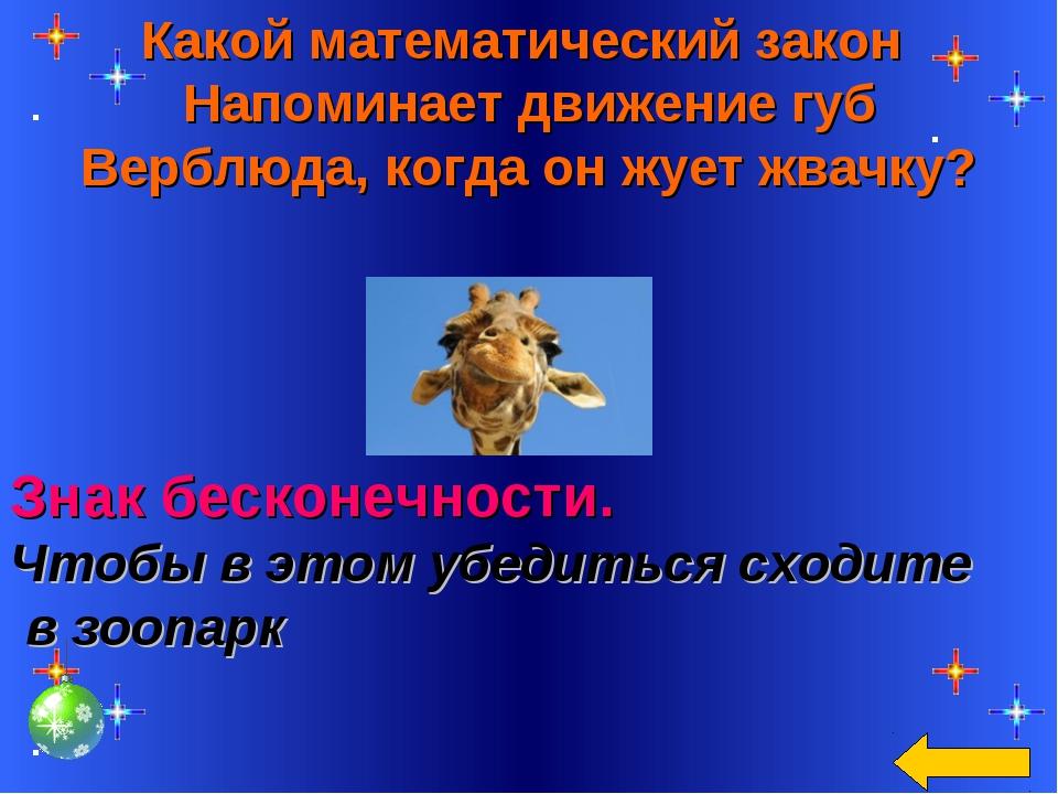 Какой математический закон Напоминает движение губ Верблюда, когда он жует жв...