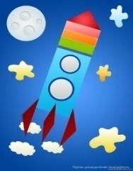 Аппликация ко дню космонавтики