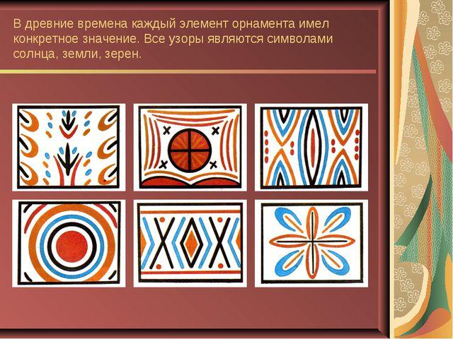 В древние времена каждый элемент орнамента имел конкретное значение. Все узор...