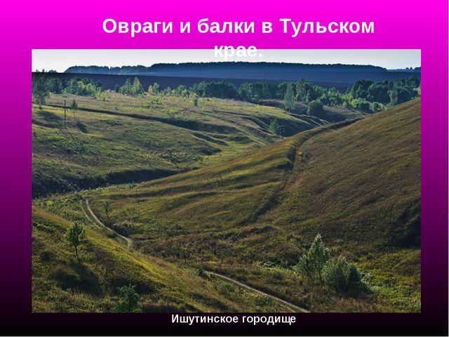 Овраги и балки в Тульском крае. Ишутинское городище