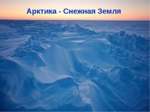 Арктика - Снежная Земля