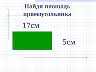 Найди площадь прямоугольника 17см 5см