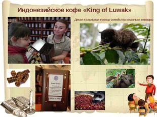 Индонезийское кофе «King of Luwak» Дикая пальмовая куница семейства кошачьих