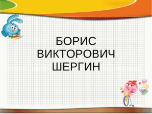 БОРИС ВИКТОРОВИЧ ШЕРГИН
