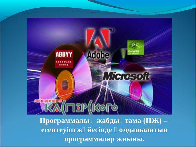 Программалық жабдықтама (ПЖ) – есептеуіш жүйесінде қолданылатын программалар...