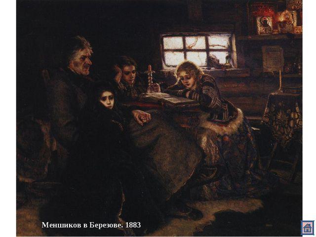 Меншиков в Березове. 1883
