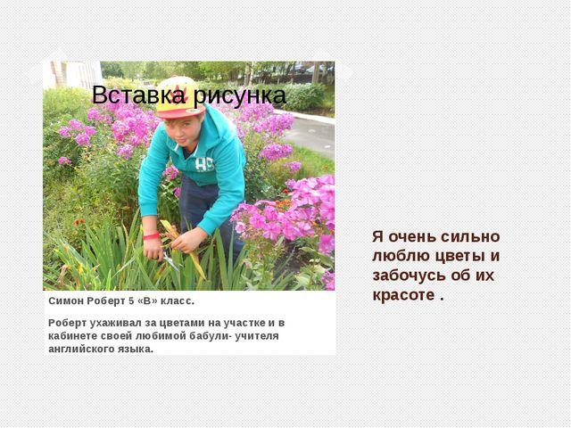 Я очень сильно люблю цветы и забочусь об их красоте . Симон Роберт 5 «В» клас...