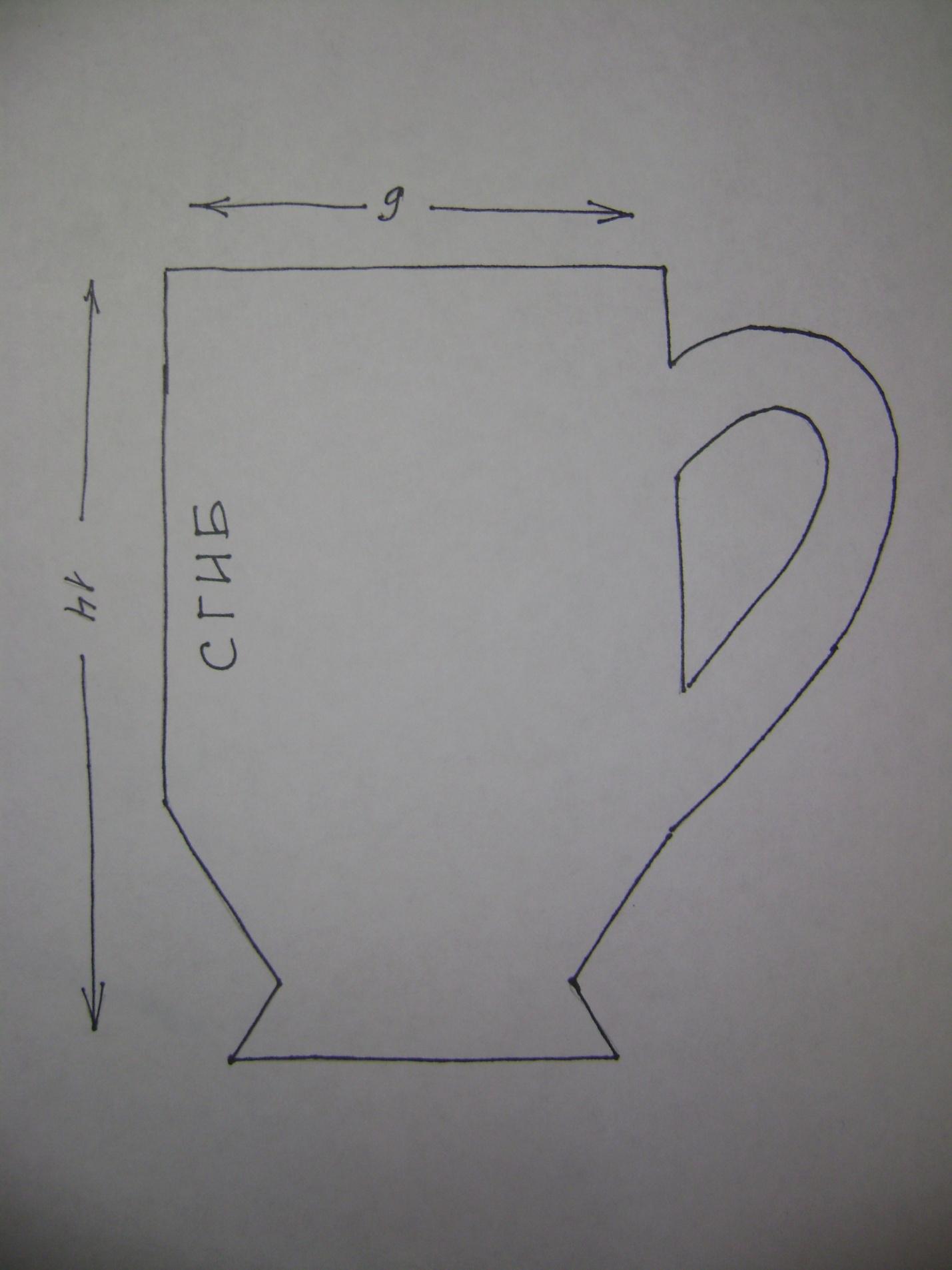 открытка в форме чашки оригинальных угощений будут