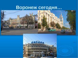 Воронеж сегодня…