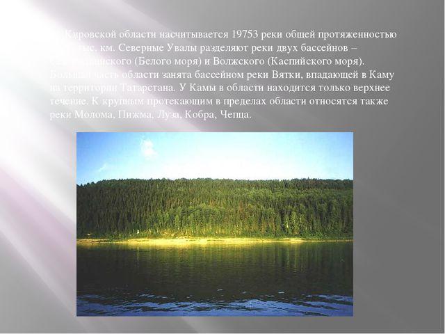 В Кировской области насчитывается 19753 реки общей протяженностью 66,65 тыс....