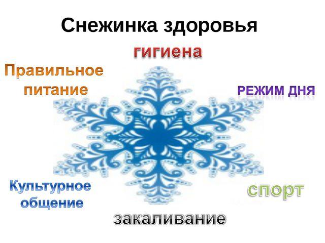 Снежинка здоровья