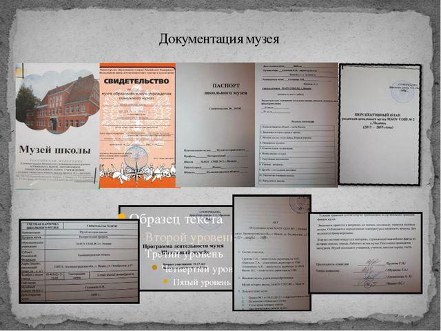 Документация музея