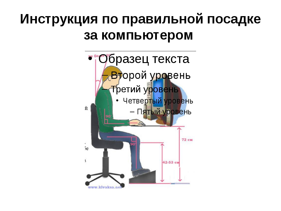 Инструкция по правильной посадке за компьютером