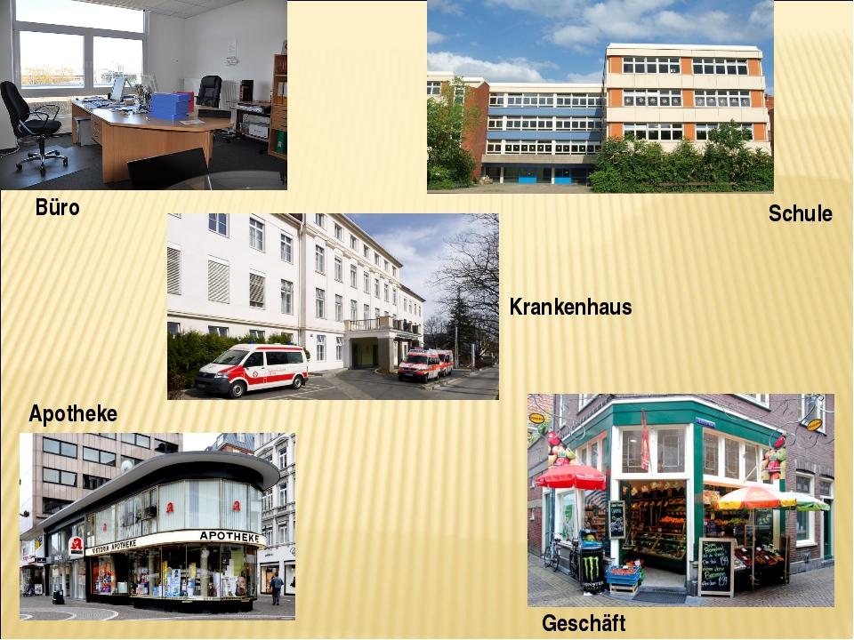 Schule Apotheke Büro Geschäft Krankenhaus