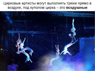 Цирковые артисты могут выполнять трюки прямо в воздухе, под куполом цирка – э