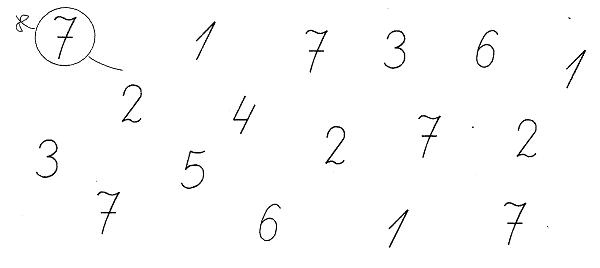 Интернет урок по математике Число и цифра 7 математика Интернет урок 1 класс
