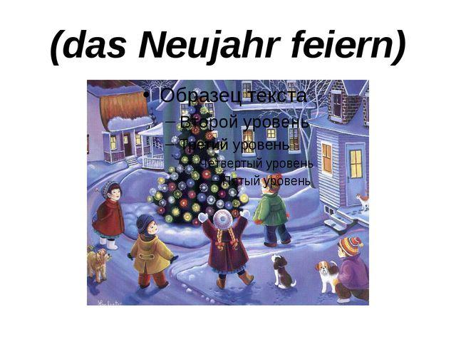 (das Neujahr feiern)