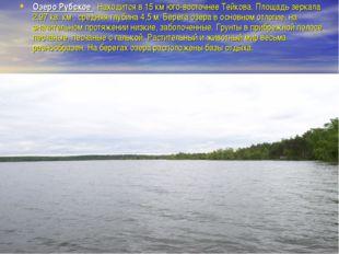 Озеро Рубское . Находится в 15 км юго-восточнее Тейкова. Площадь зеркала 2,97