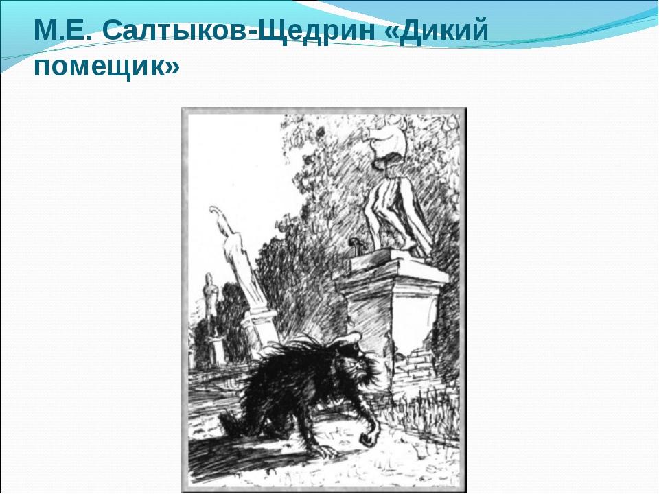 М.Е. Салтыков-Щедрин «Дикий помещик»