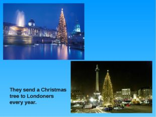 They send a Christmas tree to Londoners every year.