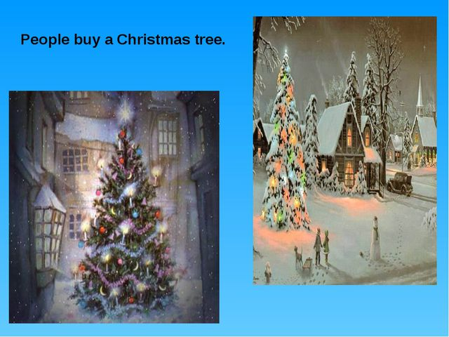 People buy a Christmas tree.
