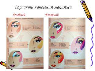 Варианты нанесения макияжа Дневной Вечерний