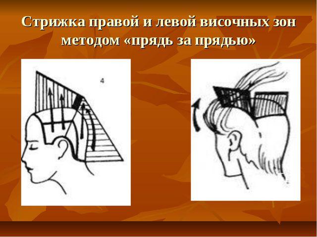 Стрижка правой и левой височных зон методом «прядь за прядью»