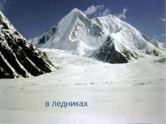 в ледниках