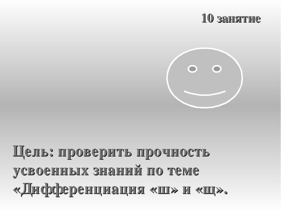 10 занятие Цель: проверить прочность усвоенных знаний по теме «Дифференциация...