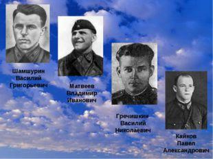 Матвеев Владимир Иванович Кайков Павел Александрович Гречишкин Василий Никола