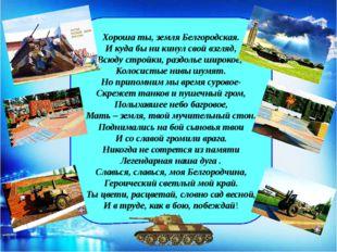 Хороша ты, земля Белгородская. И куда бы ни кинул свой взгляд, Всюду стройки