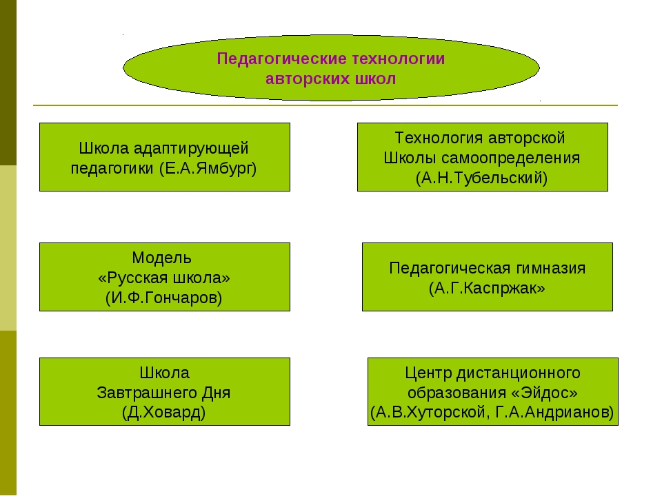 Педагогические технологии авторских школ Школа адаптирующей педагогики (Е.А.Я...