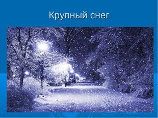 Крупный снег