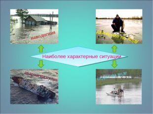 Наиболее характерные ситуации наводнения движение по льду аварии на судах отд