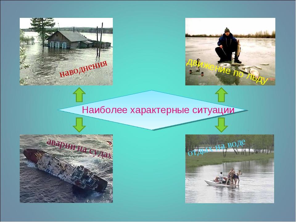 Наиболее характерные ситуации наводнения движение по льду аварии на судах отд...