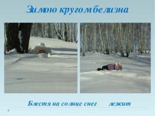 Зимою кругом белизна Блестя на солнце снег лежит