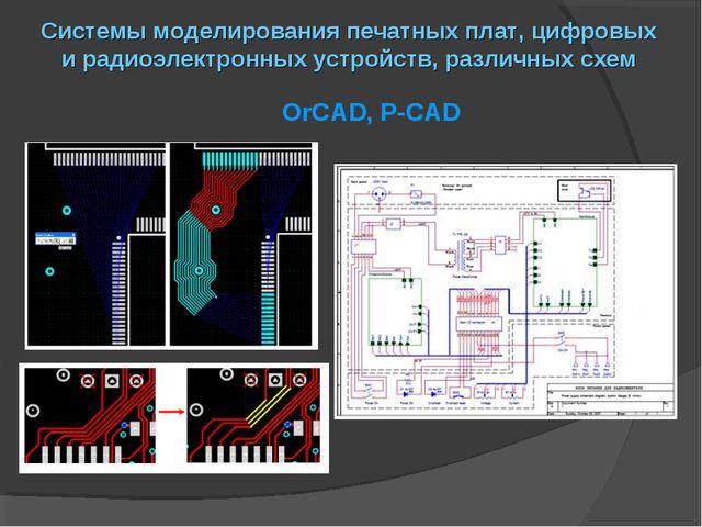 Системы моделирования печатных плат, цифровых и радиоэлектронных устройств, р...