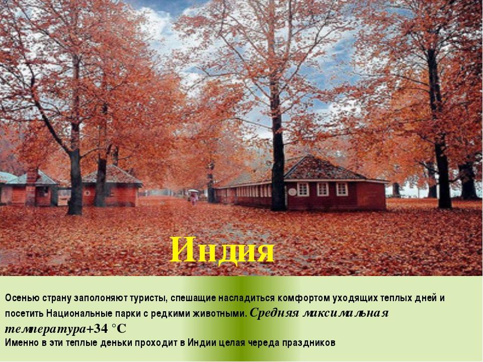 Осенью страну заполоняют туристы, спешащие насладиться комфортом уходящих те...