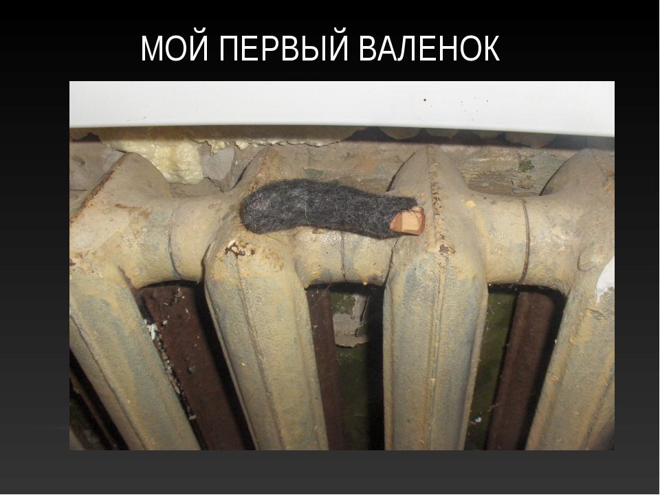 МОЙ ПЕРВЫЙ ВАЛЕНОК