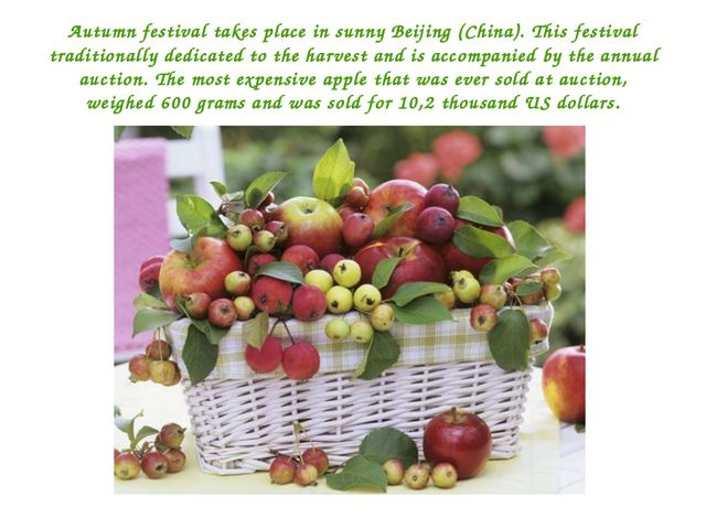 Autumn festival takes place in sunny Beijing (China). This festival tradition...