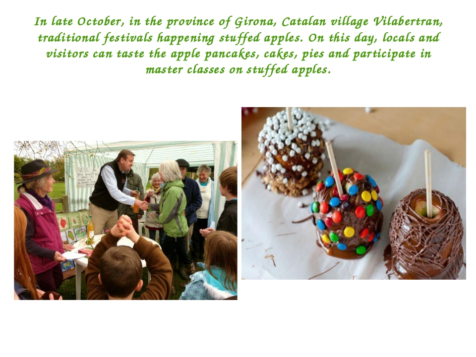 In late October, in the province of Girona, Catalan village Vilabertran, trad...