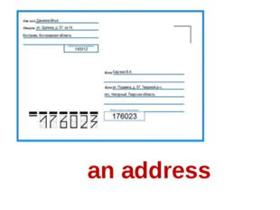an address