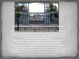 Улица Тимирязева, мемориальный комплекс Вечный огонь. Городской парк культур