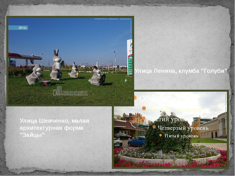 "Улица Ленина, клумба ""Голуби"" Улица Шевченко, малая архитектурная форма ""Зай..."