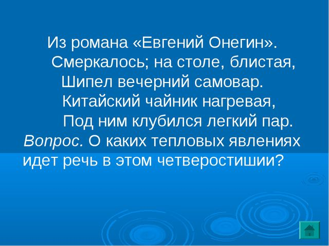 Из романа «Евгений Онегин». Смеркалось; на столе, блистая, Шипел вечерний сам...