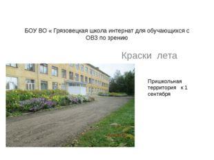БОУ ВО « Грязовецкая школа интернат для обучающихся с ОВЗ по зрению Краски ле