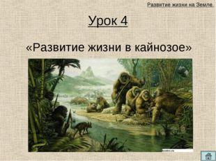 Урок 4 «Развитие жизни в кайнозое» Развитие жизни на Земле.